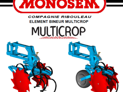 Manual de binadora MONOSEM modelo multicrop año 2015