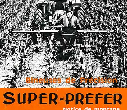 Manual de binadora MONOSEM modelo super prefer año 1977