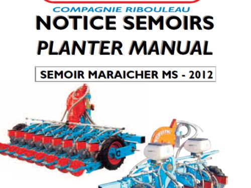Manual de sembradora hortícola MONOSEM modelo MS año 2012