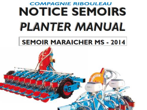 Manual de sembradora hortícola MONOSEM modelo MS año 2014