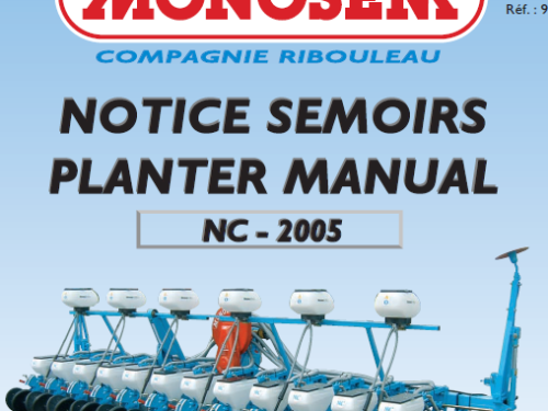 Manual de sembradora MONOSEM modelo NC año 2005