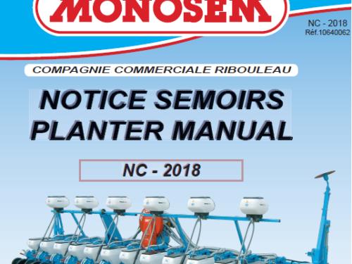 Manual de sembradora MONOSEM modelo NC año 2018