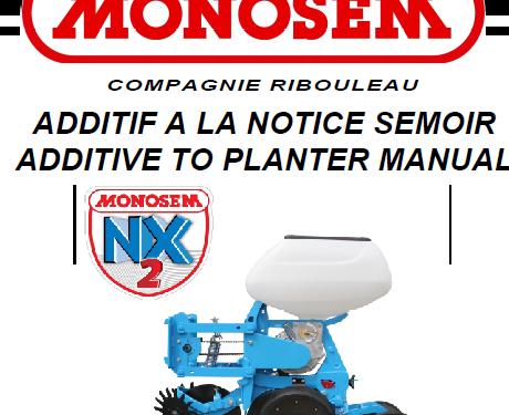 Manual de sembradora MONOSEM modelo NX2 año 2014