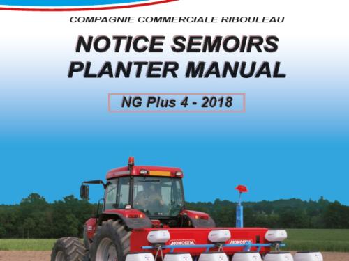 Manual de sembradora MONOSEM modelo NG PLUS 4 AÑO 2018