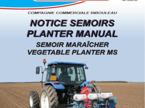 Manual de sembradora hortícola MONOSEM MS año 2019